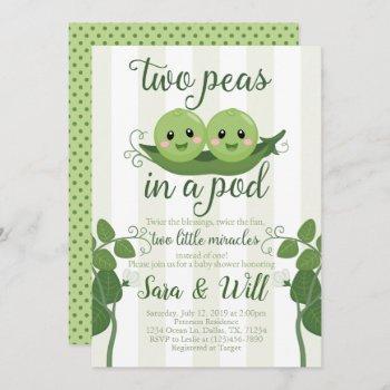 Pea Pod Baby Shower  Invite