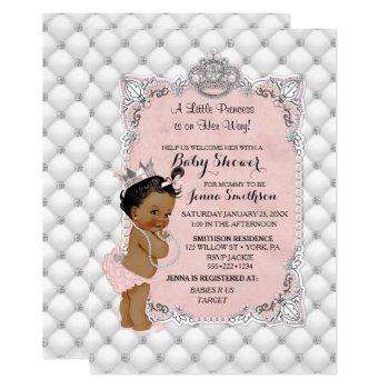 Pearls Diamonds Ethnic Princess Baby Girl Glam Invitation