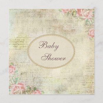 Pearls & Lace Shabby Chic Roses Baby Shower
