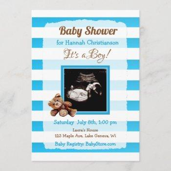 Personalized Ultrasound Picture Baby Shower Invitation