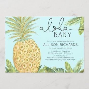 Pineapple Boy Or Gender Neutral Baby Shower