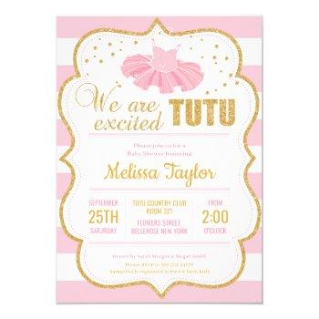 Tutu Baby Shower Invitations Mother Owl