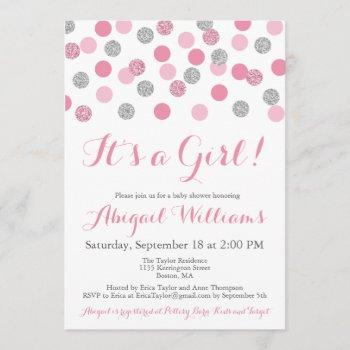 Pink And Silver Glitter Baby Shower