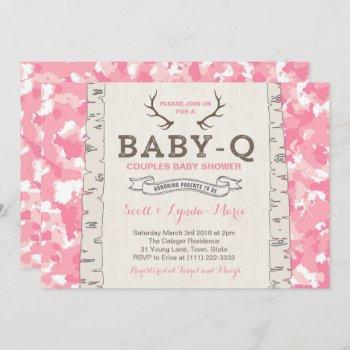 Pink Camouflage Co-ed Baby Shower For Girl