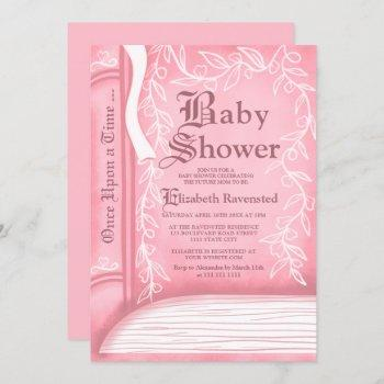 Pink Fairy Tale Storytelling Book Girl Baby Shower