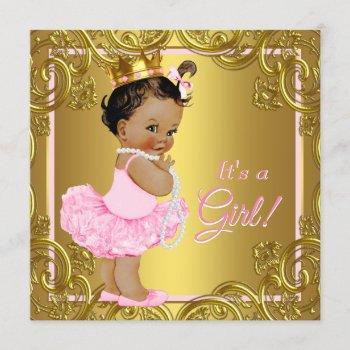 Pink Gold Tutu Ethnic Princess Baby Shower