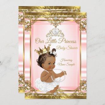 Pink Gold White Pearl Princess Baby Shower Dark 2