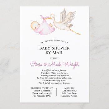 Pink Stork Baby Shower By Mail