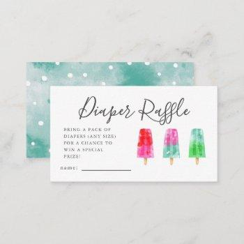 Popsicle Baby Shower Diaper Raffle Ticket  Enclosure Card