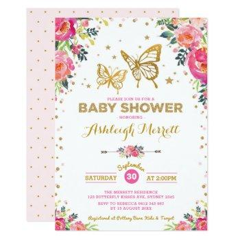 Butterfly Kisses Baby Wishes Invitations Butterfly Baby Shower Invitations For Baby Girl Rainbow Pink Butterflies Baby Shower Invitations