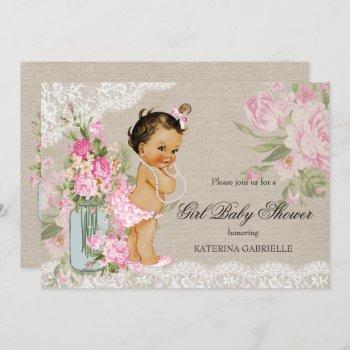 Pretty Shabby Chic Lace Floral Baby Shower