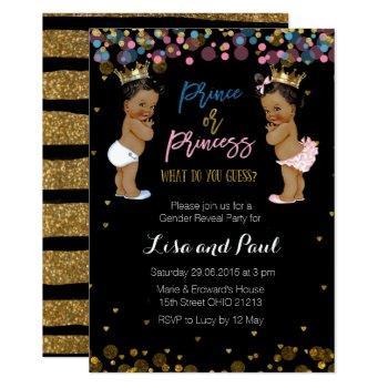 Prince And Princess Gender Reveal Invitation