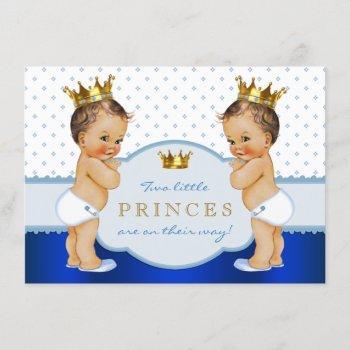 Prince Twin Boy Baby Shower Invitation