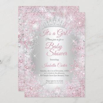 Princess Baby Shower Blush Pink Winter Wonderland