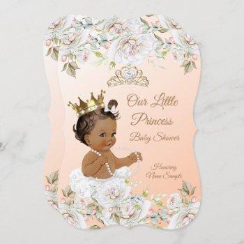 Princess Baby Shower Coral Peach White Ethnic