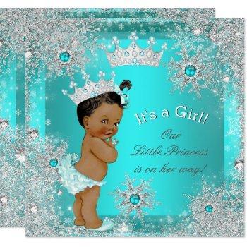 Princess Baby Shower Winter Wonderland Ethnic Invitation