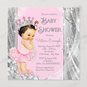Princess Ballerina Pink Silver Baby Shower