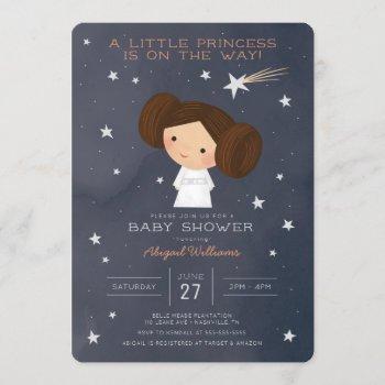 Princess Leia   Watercolor Baby Shower Invitation