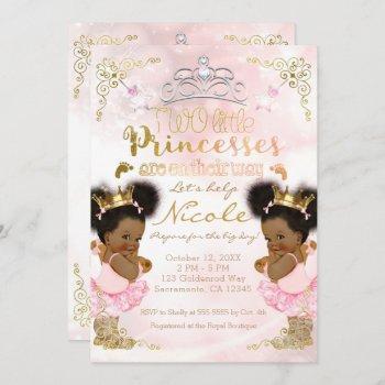 Princess Tutu Crown Ethnic Twin Girls Baby Shower