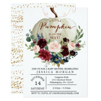 Pumpkin Baby Shower Invitation - Fall Baby Shower