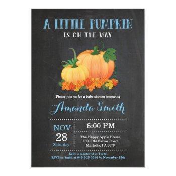 Pumpkin Fall Boy Baby Shower Invitation