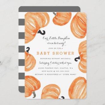 Pumpkin Patch Baby Shower Invitation