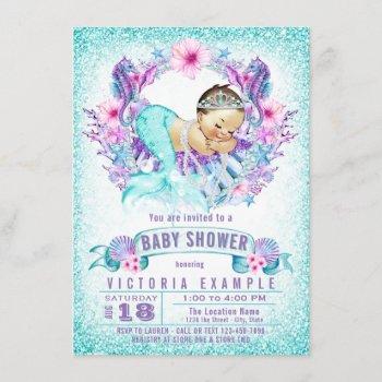 Purple Teal Mermaid Baby Shower