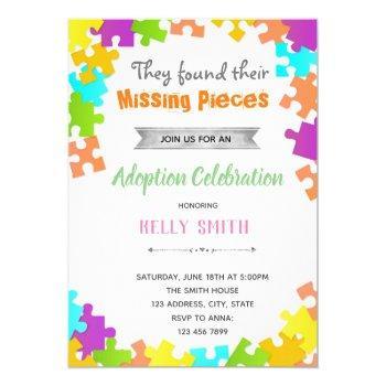 Puzzle Adoption Birthday Shower Invitation