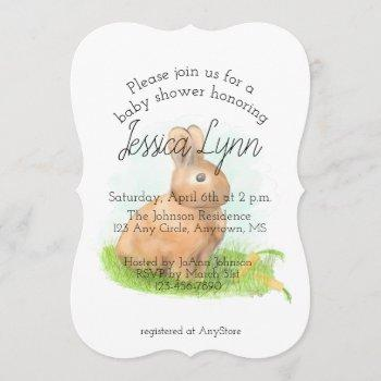 Rabbit Baby Shower Invitation