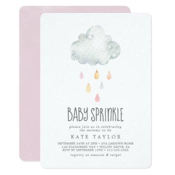 Rain Cloud Girl Baby Sprinkle Invitation