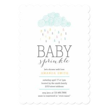 Rain Clouds Baby Shower Invitation