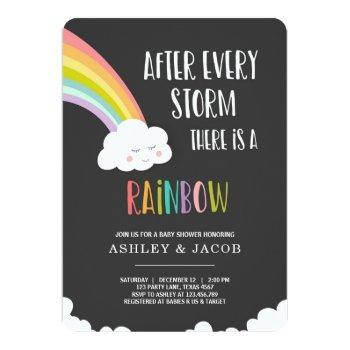 Rainbow After A Loss Neutral  Baby Shower Invitation