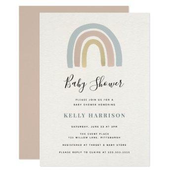 Rainbow Baby Shower Invitation