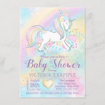 Rainbow Unicorn Baby Shower