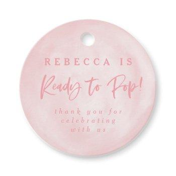 Ready To Pop! Baby Shower Invite Thank You Favor Tags