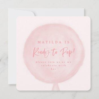 Ready To Pop Watercolor Balloon Baby Shower Invite
