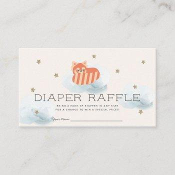 Red Panda Baby Shower Diaper Raffle Ticket Enclosure Card