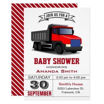 Red Truck Baby Shower Invitation