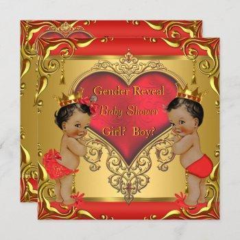 Regal Red Gold Gender Reveal Baby Shower Ethnic