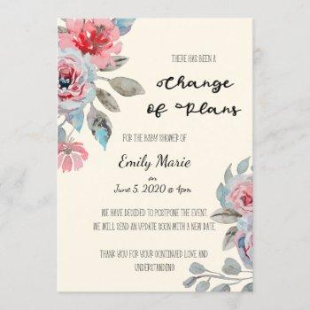 Roses Change Of Plans Baby Shower Card