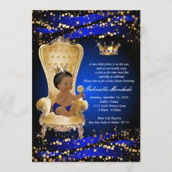 Royal Blue Baby Shower, Baby Shower Invitation
