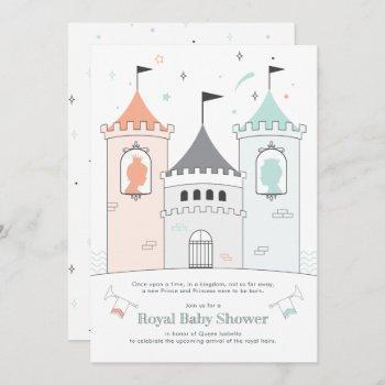 Royal Castle Boy Girl Twin Baby Shower