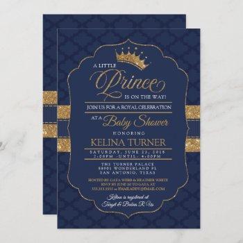 Royal Little Prince Baby Shower Invitation