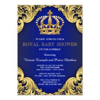 Royal Prince Baby Shower Invitations