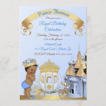 Royal Prince Castle Carriage Blue Gold Boy