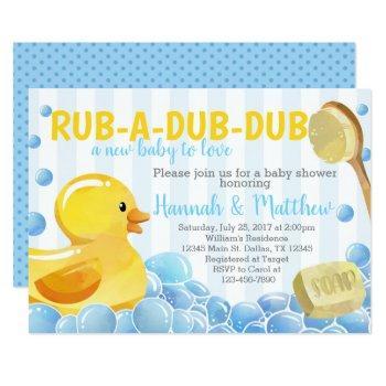 Rubber Duck Baby Shower Invitation Invite