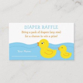 Rubber Duck Diaper Raffle Tickets Enclosure Card