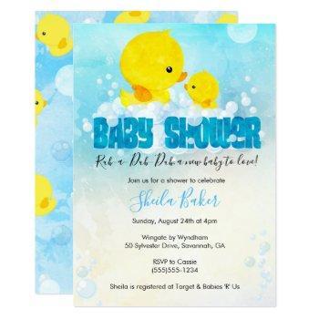 Rubber Ducky Baby Shower Invitation   Duckie Bath