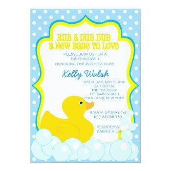 Rubber Ducky Baby Shower Invitations