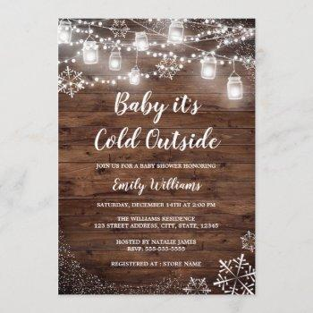 Rustic Baby It's Cold Outside Winter Baby Shower